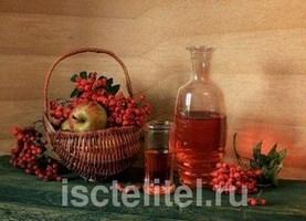 Лечебная наливка из ягод рябины