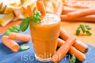 Морковный сок при запорах