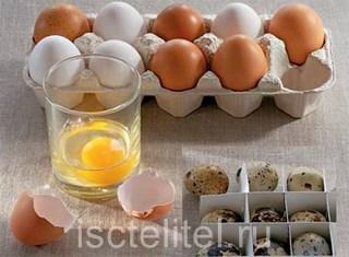 Лечение желудка яйцами
