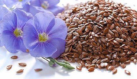 Очищение льняным семенем