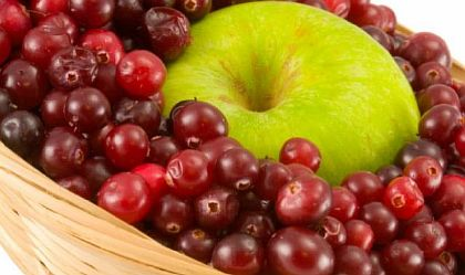 Клюква с яблоками